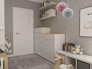 Mieszkanie 70m2 Ursynów - Mały szary pokój dziecka dla chłopca dla dziewczynki dla ucznia dla malucha dla nastolatka, styl nowoczesny - zdjęcie od Grafika i Projekt architektura wnętrz