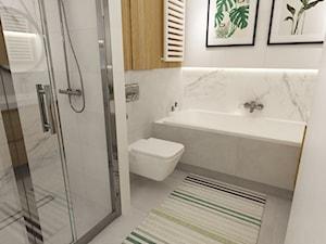 mieszkanie 70m2 w stylu urban jungle - Średnia łazienka w bloku w domu jednorodzinnym bez okna, styl skandynawski - zdjęcie od Grafika i Projekt architektura wnętrz