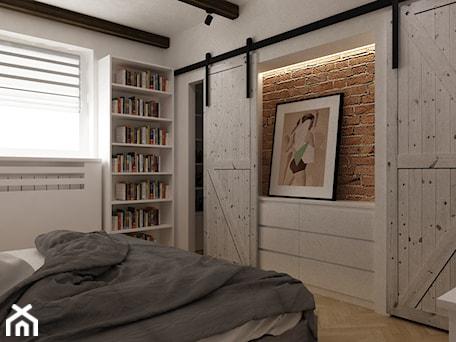 Aranżacje wnętrz - Sypialnia: projekty pojedynczych pomieszczeń - Średnia biała sypialnia małżeńska z garderobą, styl skandynawski - Grafika i Projekt architektura wnętrz. Przeglądaj, dodawaj i zapisuj najlepsze zdjęcia, pomysły i inspiracje designerskie. W bazie mamy już prawie milion fotografii!