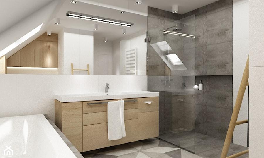 łazienki W Stylu Skandynawskim średnia Duża łazienka Na