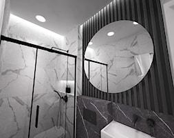 dom biel i grafit - Łazienka, styl nowoczesny - zdjęcie od Grafika i Projekt architektura wnętrz - Homebook