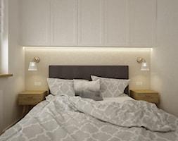 mieszkanie Mokotów nowocześnie klasycznie 70m2 - Mała sypialnia małżeńska, styl klasyczny - zdjęcie od Grafika i Projekt architektura wnętrz - Homebook