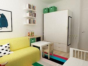 pokój dziecięcy - Średni beżowy pokój dziecka dla chłopca dla dziewczynki dla niemowlaka, styl skandynawski - zdjęcie od Grafika i Projekt architektura wnętrz