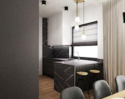 dom biel i grafit - Kuchnia, styl nowoczesny - zdjęcie od Grafika i Projekt architektura wnętrz - Homebook