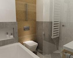 kabaty metamorfoza 60m2 - Mała łazienka w bloku bez okna, styl skandynawski - zdjęcie od Grafika i Projekt architektura wnętrz