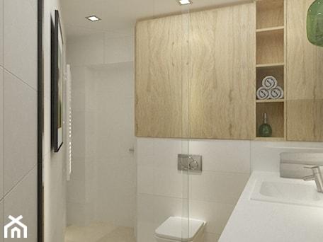 Aranżacje wnętrz - Łazienka: łazienki w stylu skandynawskim - Mała biała łazienka w bloku bez okna, styl nowoczesny - Grafika i Projekt architektura wnętrz. Przeglądaj, dodawaj i zapisuj najlepsze zdjęcia, pomysły i inspiracje designerskie. W bazie mamy już prawie milion fotografii!