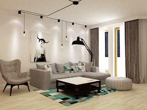 Apartament w Warszawie 90 m2 starzona cegła styl industrialny loft