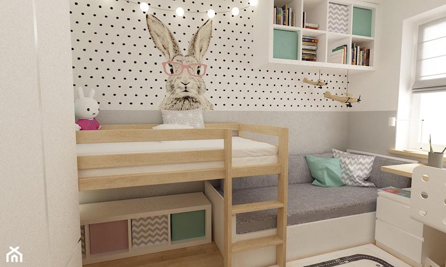 Aranżacje wnętrz - Pokój dziecka: pokój dziecięcy - Mały szary pokój dziecka dla dziewczynki dla nastolatka, styl skandynawski - Grafika i Projekt architektura wnętrz. Przeglądaj, dodawaj i zapisuj najlepsze zdjęcia, pomysły i inspiracje designerskie. W bazie mamy już prawie milion fotografii!