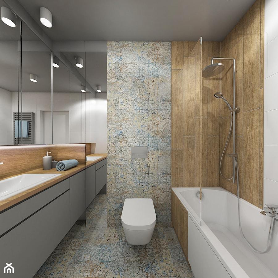 łazienki W Stylu Skandynawskim Mała Kolorowa łazienka Bez