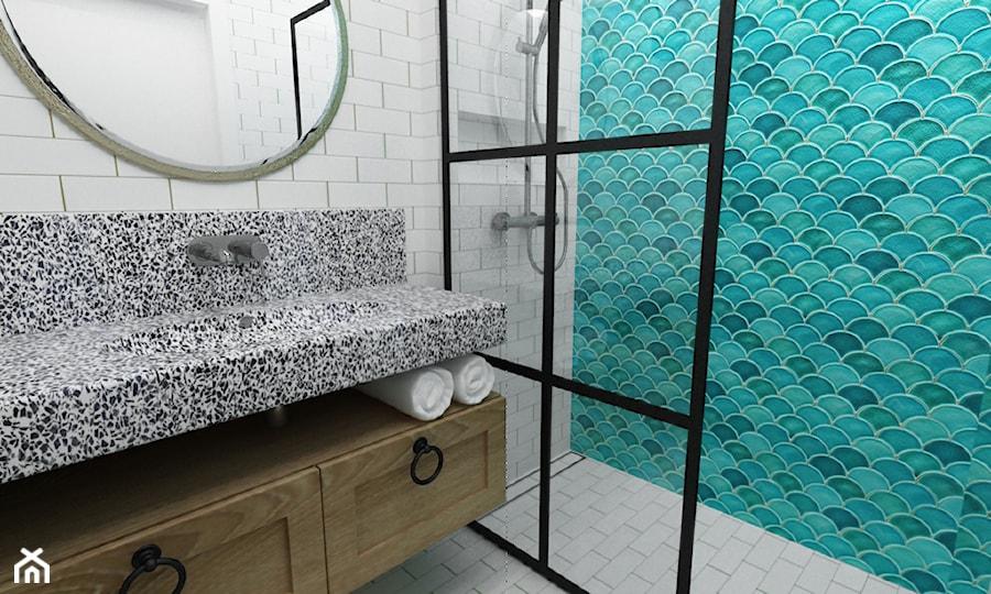 łazienka w stylu hiszpańskim - zdjęcie od Grafika i Projekt architektura wnętrz