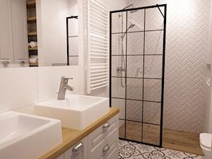 mieszkanie Mokotów nowocześnie klasycznie 70m2 - Średnia łazienka w bloku w domu jednorodzinnym bez okna, styl klasyczny - zdjęcie od Grafika i Projekt architektura wnętrz