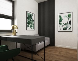 dom biel i grafit - Biuro, styl minimalistyczny - zdjęcie od Grafika i Projekt architektura wnętrz - Homebook