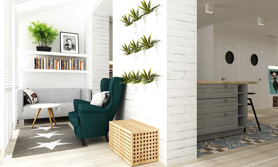 dom na dolnym mokotowie warszawa styl skandynawski - Taras, styl skandynawski - zdjęcie od Grafika i Projekt architektura wnętrz