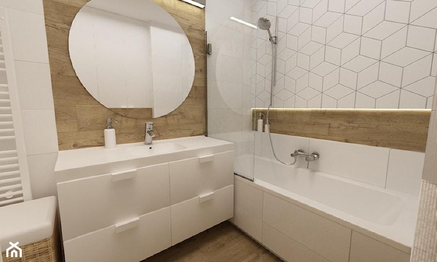 Kawalerka 35m2 Mała Biała łazienka Na Poddaszu W Bloku W