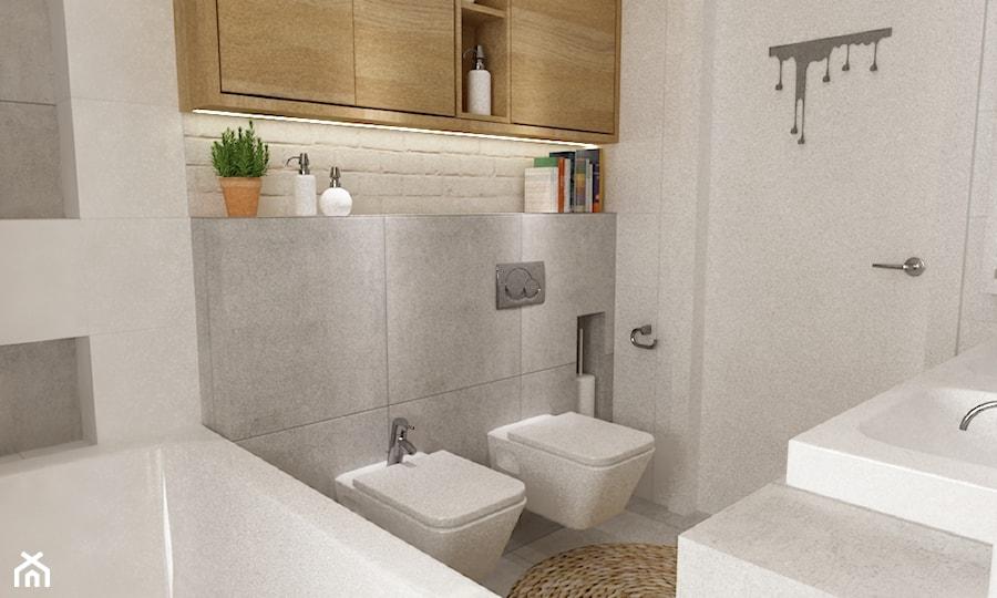łazienki W Stylu Skandynawskim Mała Biała Szara łazienka