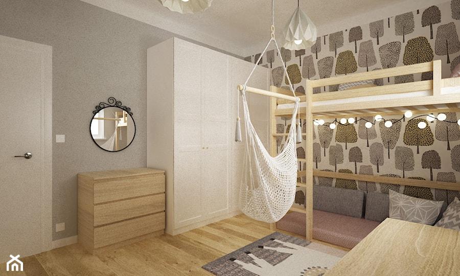 pokój dziecięcy - Średni biały szary pokój dziecka dla chłopca dla dziewczynki dla ucznia dla nastolatka, styl nowoczesny - zdjęcie od Grafika i Projekt architektura wnętrz