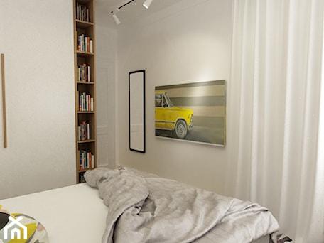 Aranżacje wnętrz - Sypialnia: sypialnie nowoczesne - Średnia biała sypialnia małżeńska, styl vintage - Grafika i Projekt architektura wnętrz. Przeglądaj, dodawaj i zapisuj najlepsze zdjęcia, pomysły i inspiracje designerskie. W bazie mamy już prawie milion fotografii!
