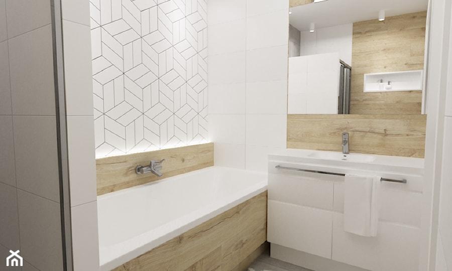 Aranżacje wnętrz - Łazienka: mieszkanie 80m2 metamorfoza - Mała łazienka w bloku w domu jednorodzinnym bez okna, styl skandynawski - Grafika i Projekt architektura wnętrz. Przeglądaj, dodawaj i zapisuj najlepsze zdjęcia, pomysły i inspiracje designerskie. W bazie mamy już prawie milion fotografii!