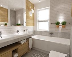 dom 120 m2 bemowo - Mała łazienka w bloku w domu jednorodzinnym z oknem, styl nowoczesny - zdjęcie od Grafika i Projekt architektura wnętrz