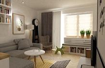 Salon styl Skandynawski - zdjęcie od Grafika i Projekt architektura wnętrz