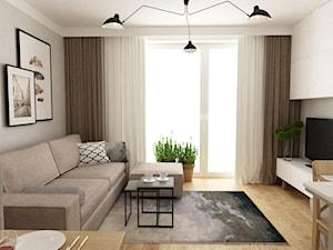 projekty pojedynczych pomieszczeń - Mały salon, styl eklektyczny - zdjęcie od Grafika i Projekt architektura wnętrz