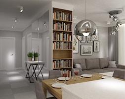 Mieszkanie 70m2 Ursynów - Hol / przedpokój, styl nowoczesny - zdjęcie od Grafika i Projekt architektura wnętrz