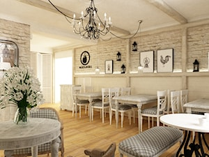 Restauracja w Stylu Prowansalskim Metamorfoza - Wnętrza publiczne, styl prowansalski - zdjęcie od Grafika i Projekt architektura wnętrz