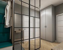 mieszkanie 40m2 lekko industrialne - Średni szary hol / przedpokój, styl industrialny - zdjęcie od Grafika i Projekt architektura wnętrz