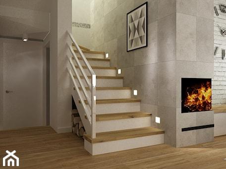 Aranżacje wnętrz - Schody: dom warszawa 120m2 - Średnie schody dwubiegowe drewniane, styl nowoczesny - Grafika i Projekt architektura wnętrz. Przeglądaj, dodawaj i zapisuj najlepsze zdjęcia, pomysły i inspiracje designerskie. W bazie mamy już prawie milion fotografii!