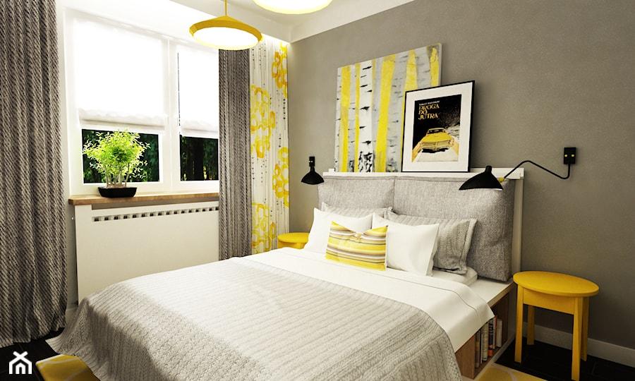 żółty I Szary W Sypialni Zdjęcie Od Grafika I Projekt