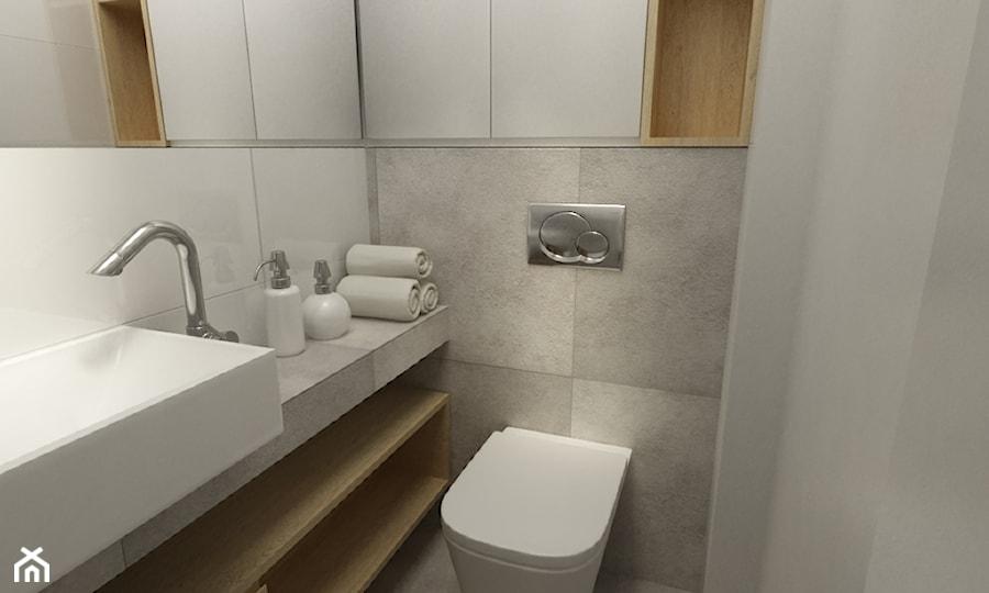 Mieszkanie 70m2 Ursynów Mała łazienka Styl Nowoczesny