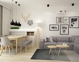 mieszkanie kolor jesion 90m2 - Jadalnia, styl nowoczesny - zdjęcie od Grafika i Projekt architektura wnętrz