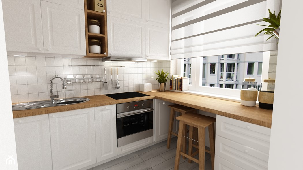 Gdy w kuchni nie ma miejsca na stół Przegląd kreatywnych   -> Kuchnia Pod Zabudowe W Bloku