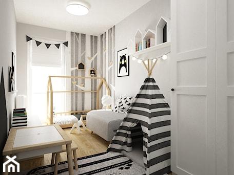 Aranżacje wnętrz - Pokój dziecka: pokój dziecięcy - Średni biały czarny pokój dziecka dla chłopca dla dziewczynki dla ucznia dla malucha, styl skandynawski - Grafika i Projekt architektura wnętrz. Przeglądaj, dodawaj i zapisuj najlepsze zdjęcia, pomysły i inspiracje designerskie. W bazie mamy już prawie milion fotografii!