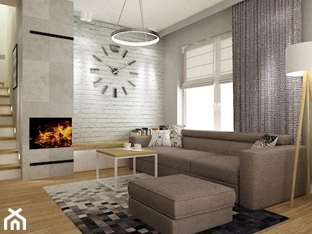 Aranżacje wnętrz - Salon: dom warszawa 120m2 - Salon, styl nowoczesny - Grafika i Projekt architektura wnętrz. Przeglądaj, dodawaj i zapisuj najlepsze zdjęcia, pomysły i inspiracje designerskie. W bazie mamy już prawie milion fotografii!