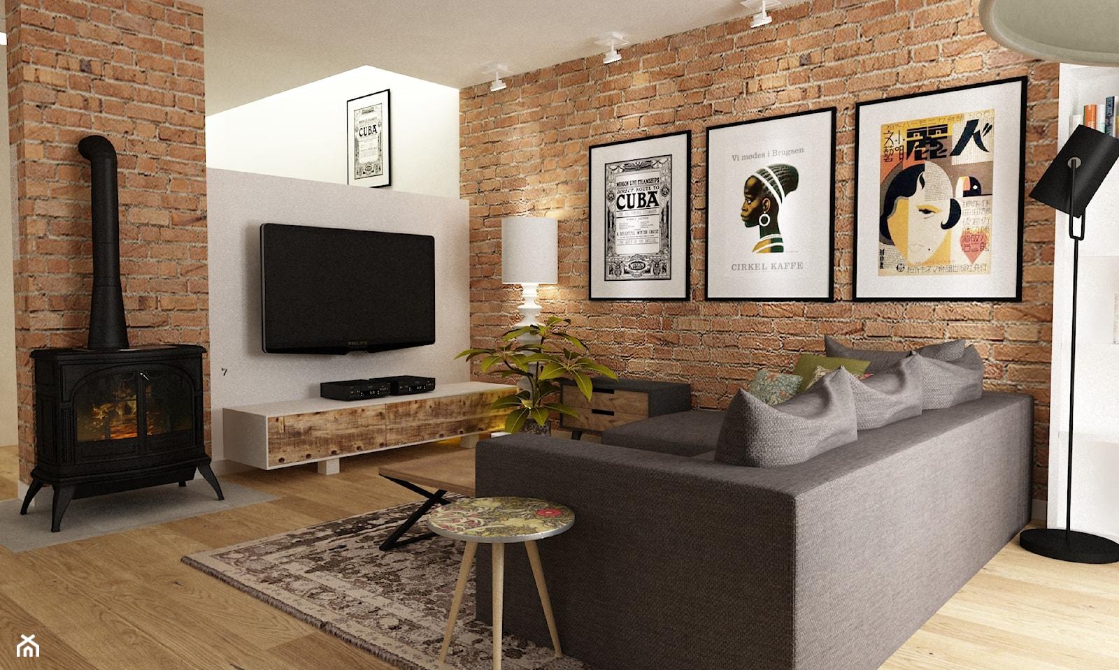 Dom w Stylu Neokolonialnym poznań - Mały biały salon, styl eklektyczny - zdjęcie od Grafika i Projekt architektura wnętrz - Homebook