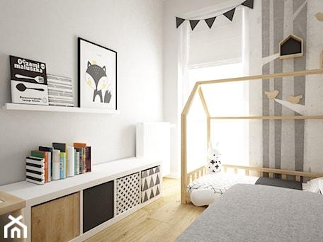 Aranżacje wnętrz - Pokój dziecka: pokój dziecięcy - Mały biały szary pokój dziecka dla chłopca dla dziewczynki dla rodzeństwa dla ucznia dla malucha, styl skandynawski - Grafika i Projekt architektura wnętrz. Przeglądaj, dodawaj i zapisuj najlepsze zdjęcia, pomysły i inspiracje designerskie. W bazie mamy już prawie milion fotografii!