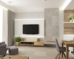 Mieszkanie 70m2 Ursynów - Salon, styl nowoczesny - zdjęcie od Grafika i Projekt architektura wnętrz