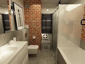 Łazienka w stylu industrialnym metamorfoza - Średnia łazienka bez okna, styl industrialny - zdjęcie od Grafika i Projekt architektura wnętrz