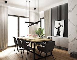 dom biel i grafit - Jadalnia, styl nowoczesny - zdjęcie od Grafika i Projekt architektura wnętrz - Homebook