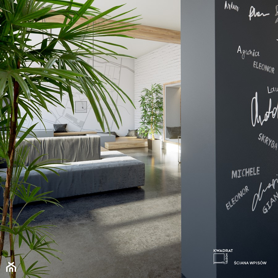 ściana wpisów - zdjęcie od Magdalena Tomczak - Architekt wnętrz