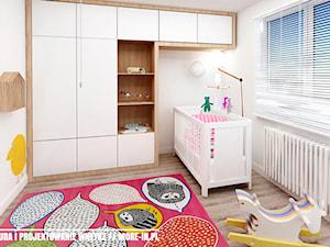 Mieszkanie we Wrocławiu 68m² - Średni biały pokój dziecka dla chłopca dla dziewczynki dla niemowlaka - zdjęcie od More-IN Architekci