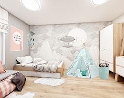 Wrocław - zabudowa szeregowa 100m2 - Średni szary pokój dziecka dla chłopca dla dziewczynki dla malucha, styl skandynawski - zdjęcie od More-IN Architekci