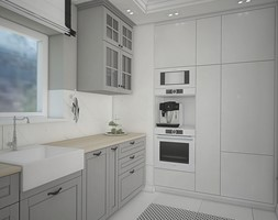 Elegancja w domu parterowym - Kuchnia, styl eklektyczny - zdjęcie od Antracyt - Homebook