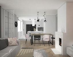 """Projekt wnętrz w """"kostce"""" - Salon, styl eklektyczny - zdjęcie od Antracyt - Homebook"""