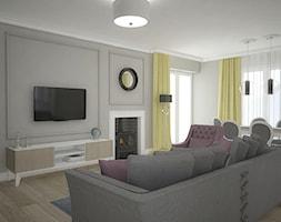 Elegancja w domu parterowym - Salon, styl eklektyczny - zdjęcie od Antracyt - Homebook