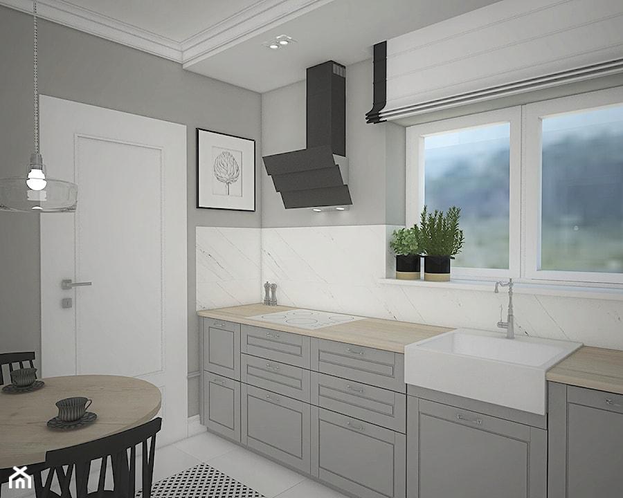 Elegancja w domu parterowym - Kuchnia, styl eklektyczny - zdjęcie od Antracyt