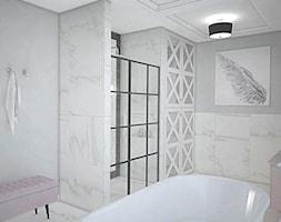 """Projekt wnętrz w """"kostce"""" - Łazienka, styl glamour - zdjęcie od Antracyt - Homebook"""