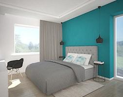 Kolor w domu - Sypialnia, styl nowoczesny - zdjęcie od Antracyt - Homebook