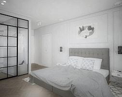 """Projekt wnętrz w """"kostce"""" - Sypialnia, styl eklektyczny - zdjęcie od Antracyt - Homebook"""